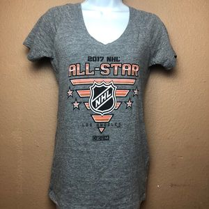 NHL 2017 Los Angeles All Star V Neck Shirt Sz M